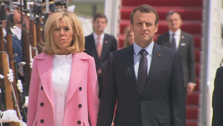 French President & Wife Arrive For U.S. Visit