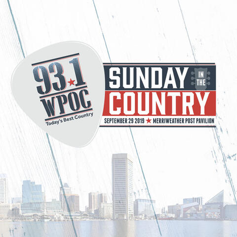 93.1 WPOC's Sunday In The Country