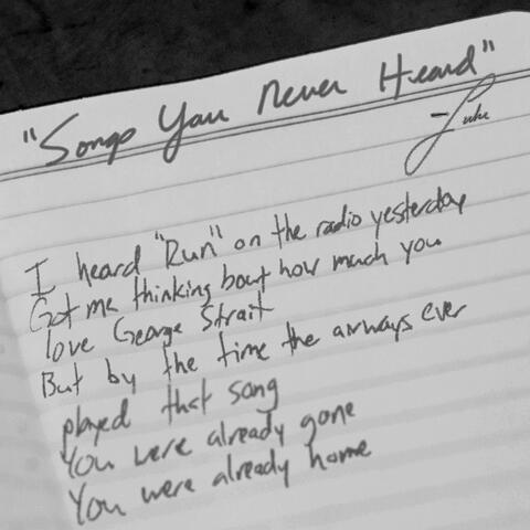 Songs You Never Heard album art