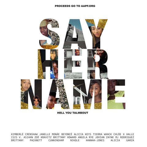 Say Her Name (Hell You Talmbout) album art