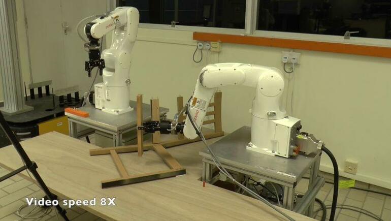 Robot Assembles an Ikea Chair