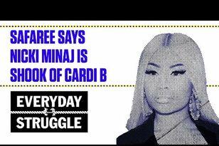 Safaree Says Nicki Minaj Is Shook of Cardi B