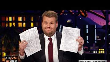 image for James Corden With a Rachel Maddow Shot