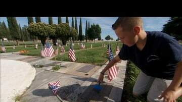 Woody Johnson - 11-Year-Old Preston Sharp Is Putting Flags on All Veteran's Graves