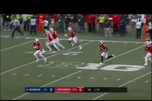 WATCH: Nick Nelson's punt return TD for Wisconsin