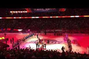 Video - Canadian and US Anthems at the NHL All-Stars