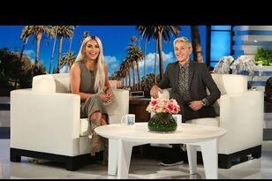 Kim Kardashian Dodges Khloe, Kylie Jenner Pregnancy Talk On 'Ellen' (VIDEO)