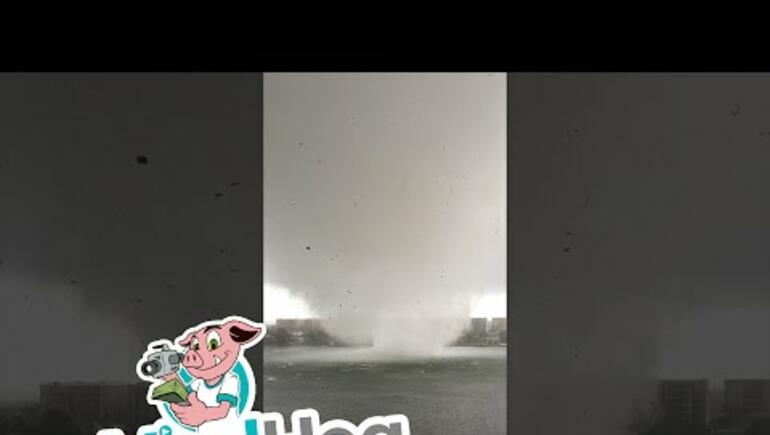 Ft. Walton Beach: Waterspout Hits Land 2x In This Video
