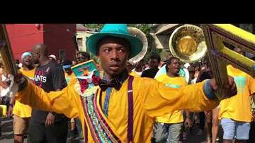 LBJ - VIDEO: Family Ties Second Line Parade