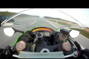 Motorcycle Speeds Up To 185mph On Autobahn