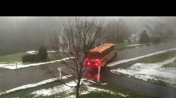 Local News - School Bus In Mass Slides Down Icy Road