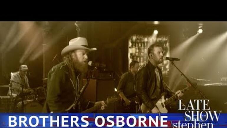 Brothers Osborne on Colbert!