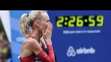 Mary Jane - First American woman to win NYC Marathon since 77
