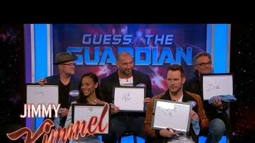 Web Girl Chelsea - The Cast of 'Guardians of the Galaxy Vol. 2' Plays Guess The Guardian with Jimmy Kimmel