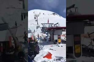 Ski Lift Goes Out Of Control, People Fly