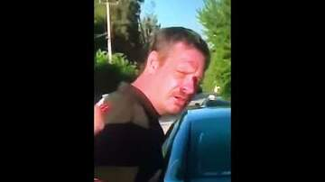 Big Brad - This guy is belting out Pearl Jam's Evenflow while being arrested...