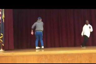 Teacher Owns Student In Dance Off