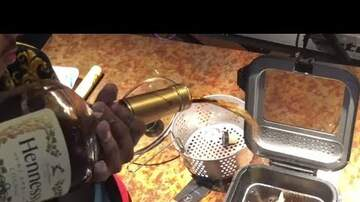 DJ Apprentice - Who Trying This? Dude Cooks Up Deep Fried Hennessy Chicken!