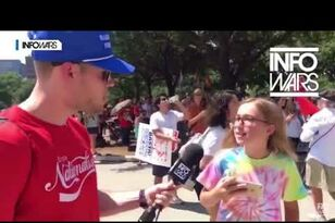 "Little Girl Calls Infowars Host a ""F**king Idiot"""