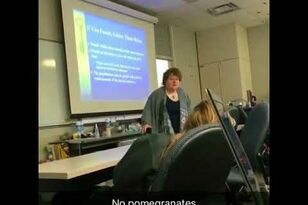 "Crazy Teacher Rants, ""NO POMEGRANATES!"""