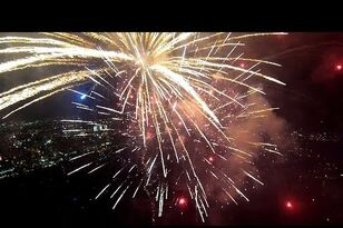What Fireworks Look Like From a Drone