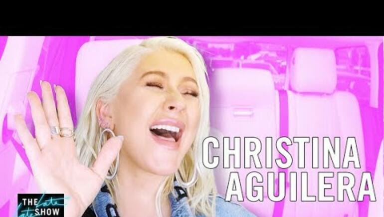 Christina Aguilera's 'Carpool Karaoke' gets Crashed by Celeb Guest!