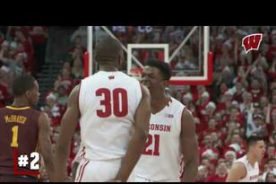 UW MBB: Highlights: Wisconsin 66, Minnesota 49