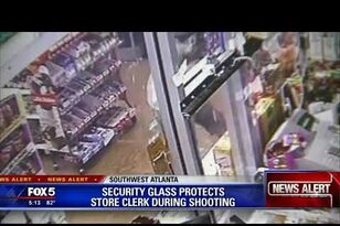 Bulletproof Glass Saves Clerk From Armed Robbers