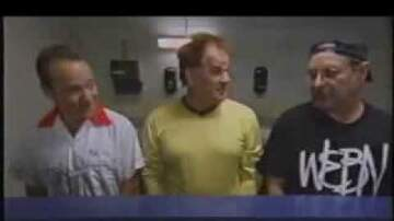 Eddie and Tracy - Throwback: Eddie in the bathroom with Pete Rose