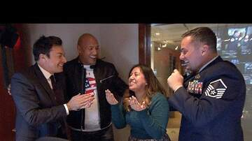 Abby Rae - The Rock and Jimmy Fallon help with Military Homecoming