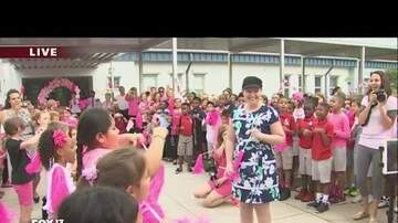 Blaise - Teacher Battling Cancer Welcomed Back With Flash Mob