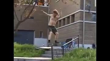 Man Stuff - An epic end to a skateboard trick...
