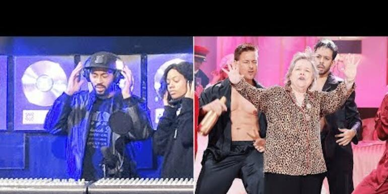 Tone Bell and Kathy Bates on Lip Sync Battle