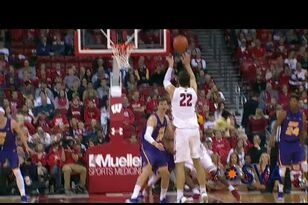 WATCH: Ethan Happ's 3-point shot vs Northern Iowa