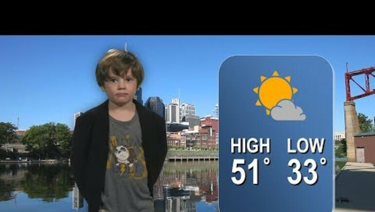 Kindergarten Weather Report (Dad helped just a little)