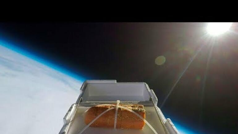 We sent garlic bread to outer space
