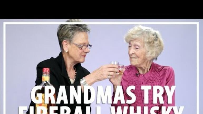 Two Grandmas Try Fireball Whisky For The First Time