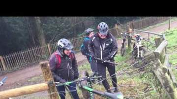 Big Nate - Men try to free bike from live electric fence