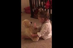 Military Dad Sends Home Bear with His Voice Inside