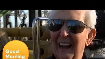 Captain Tony - Man Sets World Record For Riding A Roller Coaster At 105-Years-Old