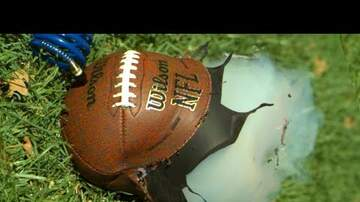 The Locker Room - Over-Inflating Footballs in Super Slow Motion