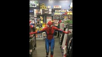 The Time Warp Cafe - Spiderman dances to Take On Me AWESOME