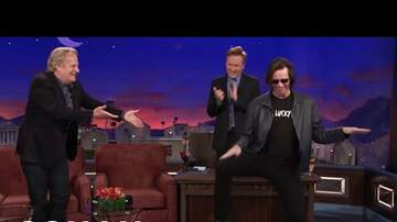 Jagger - WATCH: Jim Carrey Crashes Jeff Daniels' Conan Interview!