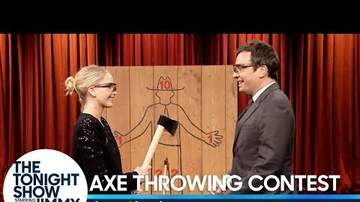 Marc Mason - Jennifer Lawrence Vs Jimmy Fallon In Ax Throwing