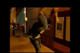 Piggy Back Ride Ends With Dude Eating It