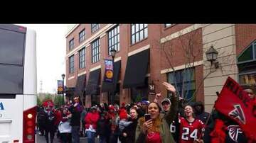 The Beat Blog - Atlanta Falcon's Superbowl Sendoff Pep Rally