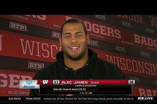 Alec James talks Badgers football on BTN