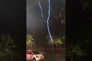 Non-Stop Lightning Punishes Street