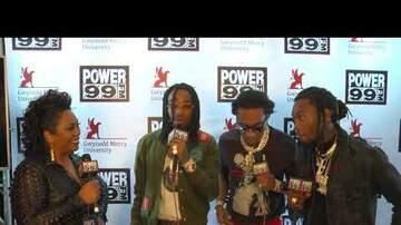 Philadelphia Powerhouse - Migos pop backstage to hang with Cappuchino at Power 99 Powerhouse