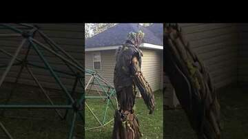 QC Ghoul Guide - Awesome Dad Creates Groot Costume | VIDEO